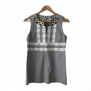 Tory Burch Striped Embroidered Beaded Tunic